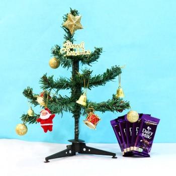 Christmas Tree and Dairy Milk Chocolate