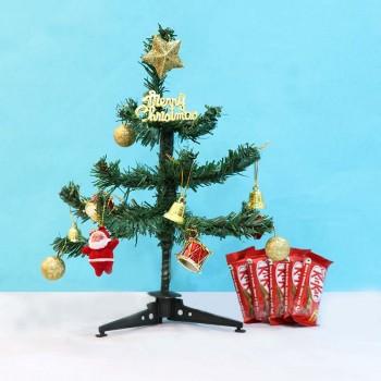 Christmas Tree and Kitkat Chocolate
