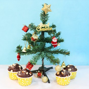 Christmas Tree and Muffins
