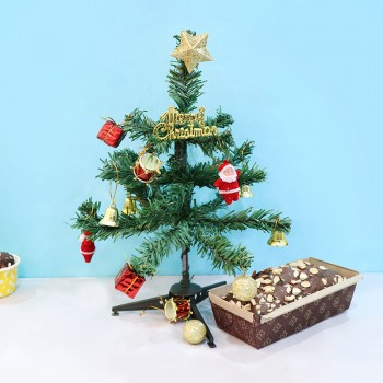 Christmas Tree and Plum Cake
