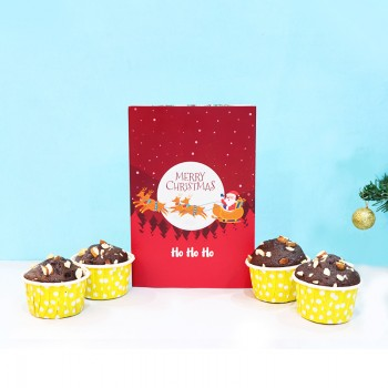 Christmas Muffins and Greeting Card