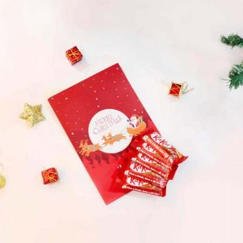 Christmas Greeting Card with Kitkat Chocolates