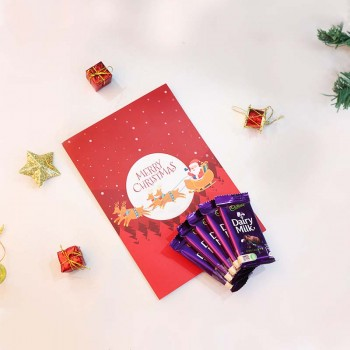 Christmas Greeting Card with Dairy Milk Chocolates