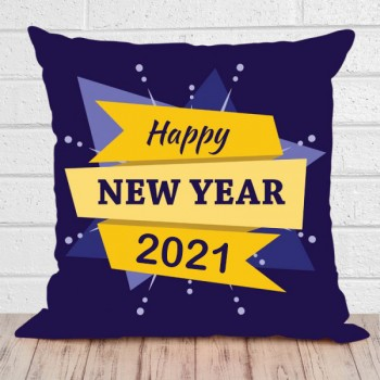 New Year Printed Cushion