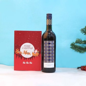 Christmas Greeting Card and Red Wine