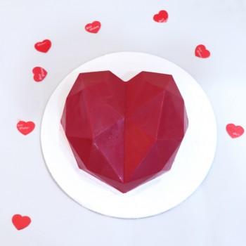 Red Heart Pinata Cake