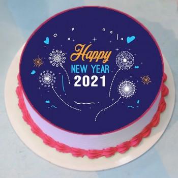 2021 Strawberry New Year Cake