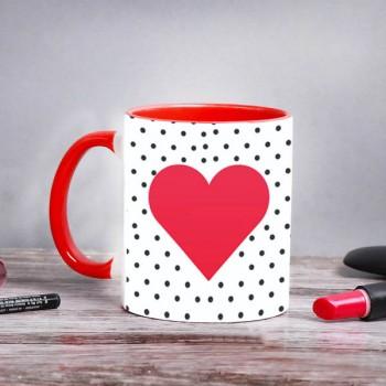Polka Dot Printed Mug