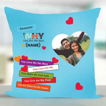 Personalised Love Theme Cushion