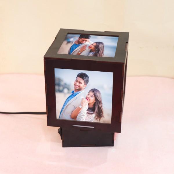 Personalised Mini Cube Table Lamp