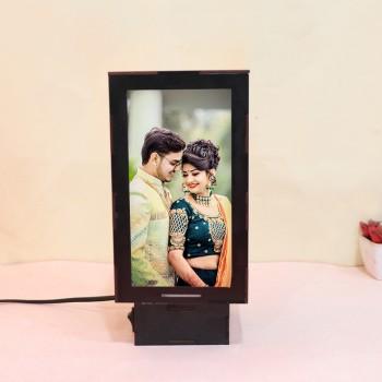 Personalised Cyclinder Shape Photo Lamp