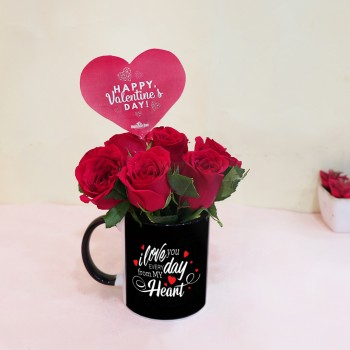 Valentines Day Mug with Roses