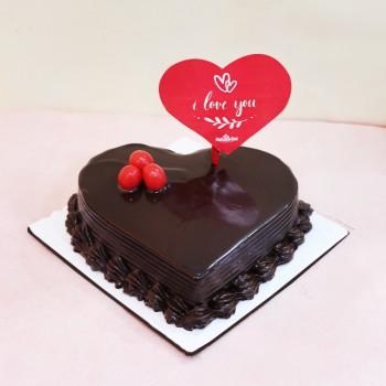 Heart Shape Valentines Day Cake