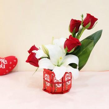Lilies Roses Arrangement