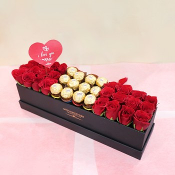 Roses Box Arrangement