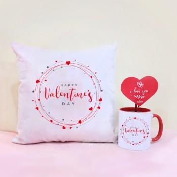 Valentines Day Mug and Cushion