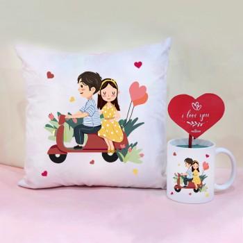 Mug and Cushion for Couple