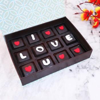 I Love You Homemade Chocolate