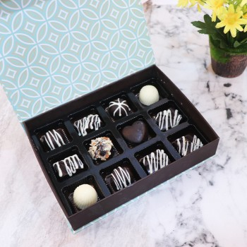 12 Pcs Homemade Assorted Chocolates Box