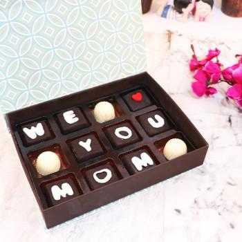 12 Pcs Homemade Chocolates for Mom