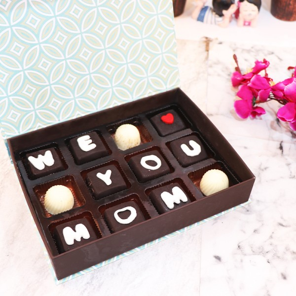 12 Pcs Homemade Chocolates for Mom