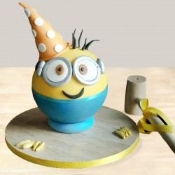 Minion Pinata Cake