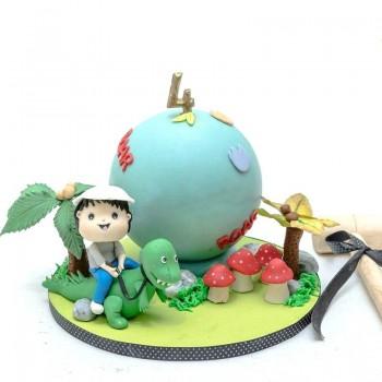Dinasour Theme Kids Pinata Cake