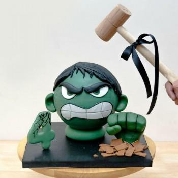 Hulk Pinata Cake