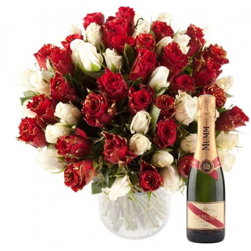 Box Sequins Champagne Roses