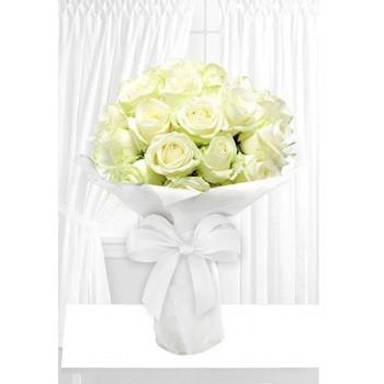 Radiant White Roses