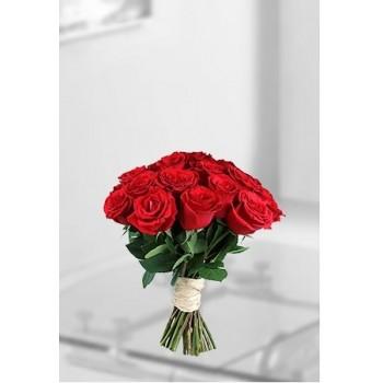 Bunch Of Dozen Red Roses