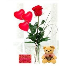 Single Stem Roses Combo