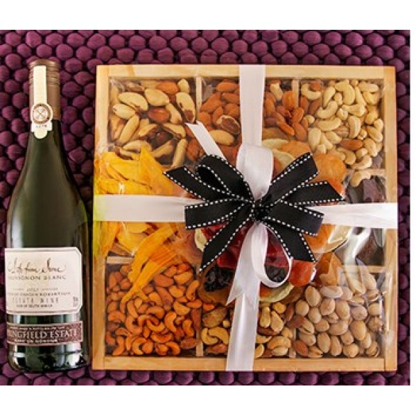 Springfield Wine and Mixed Fruit And Nut Box