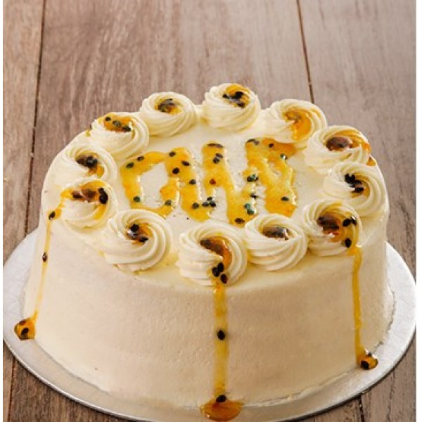 Orange and Passion Cake with Cream Cheese