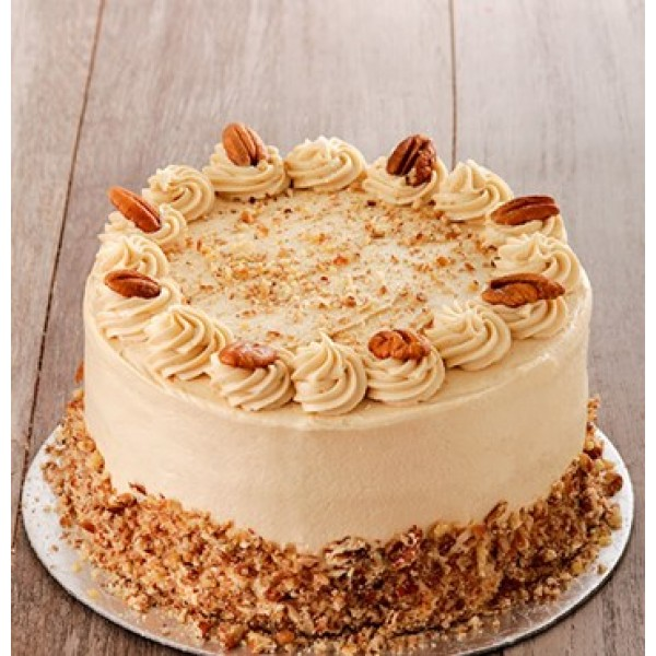 Coffee and Pecan Nut Cake with Coffee Icing