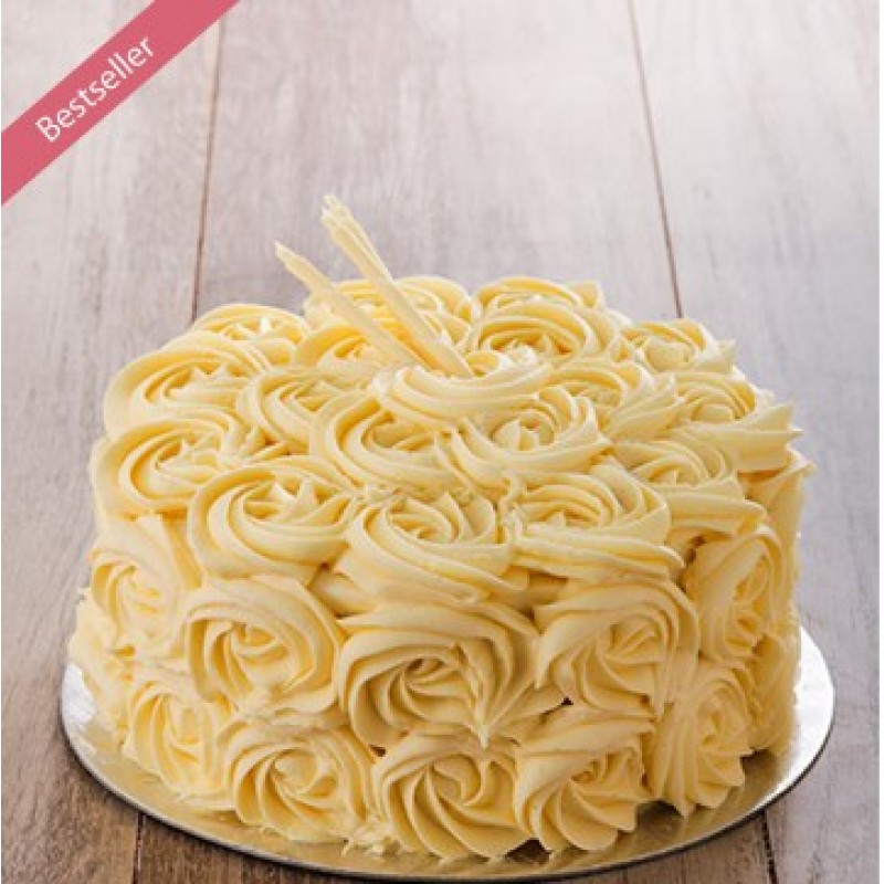 Soft Vanilla Cake with Vanilla Butter Cream