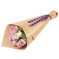 Gift Wrapped Pink Roses