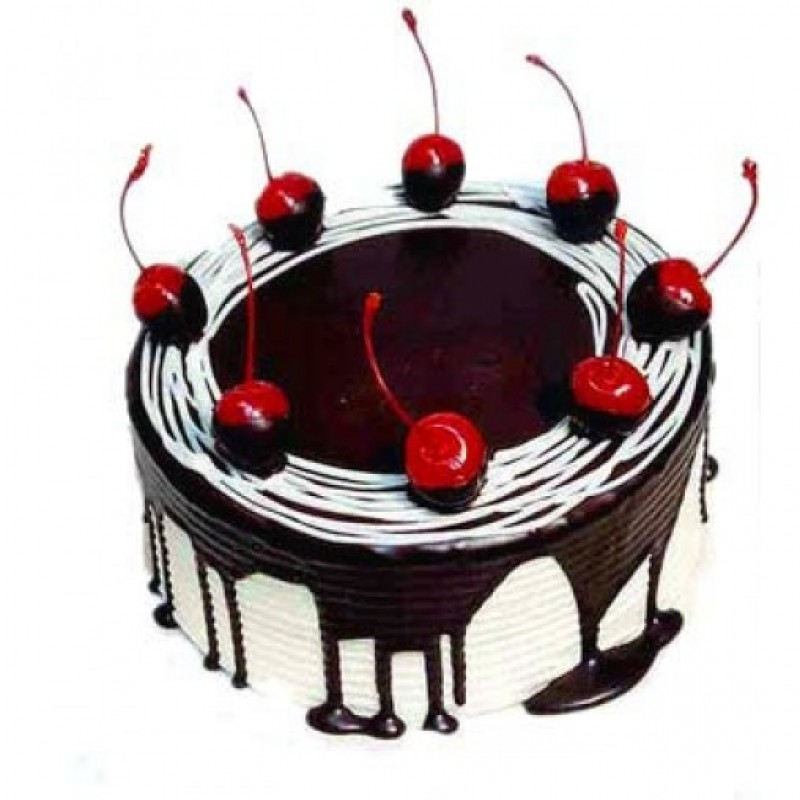 Dark Sweet Bitter Cherry Cake