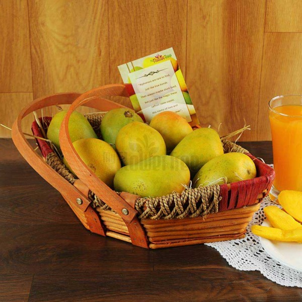 A Basket of 2 Kg Mangoes