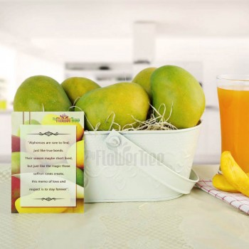 One Tin Container of 1 Kg Mangoes