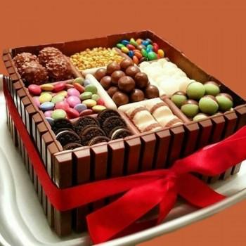 Chocolate Ktikat Gems Cake