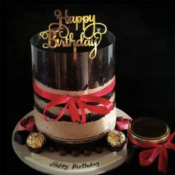 Chocolate Pull Up Cake for Birthday