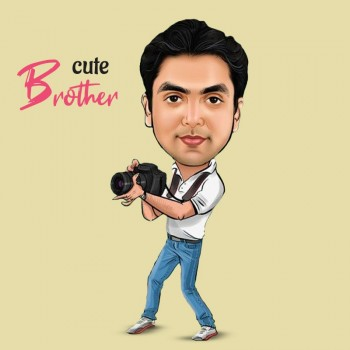 Digital Caricature For Brother