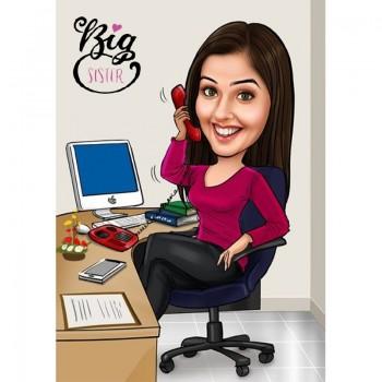 Digital Caricature for Sister