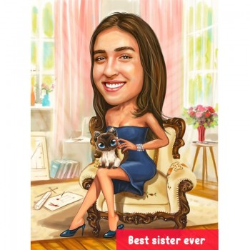 Best Sister Ever Caricature