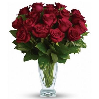 Eighteen Red Long Stem Roses