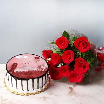 Roses Cake Combo