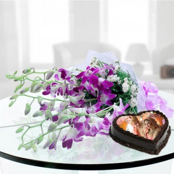 Orchids with Photo Cakes