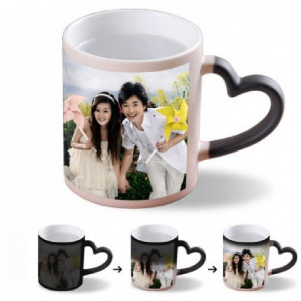 Magic Mug With Heart Handle