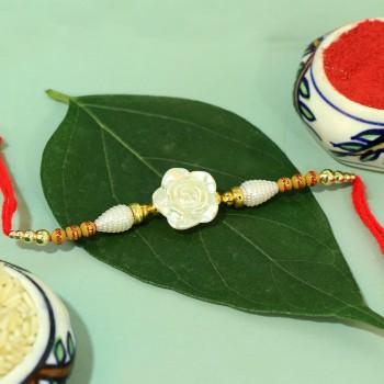 White Floral Rakhi
